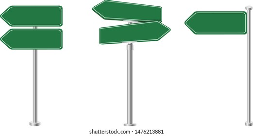 Sign Street Big Set Isolated With Gradient Mesh, Vector Illustration