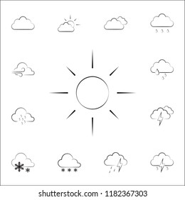 sign sunny weather icon. Weather icons universal set for web and mobile on white background