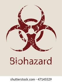 Sign a symbol of biological danger Biohazard