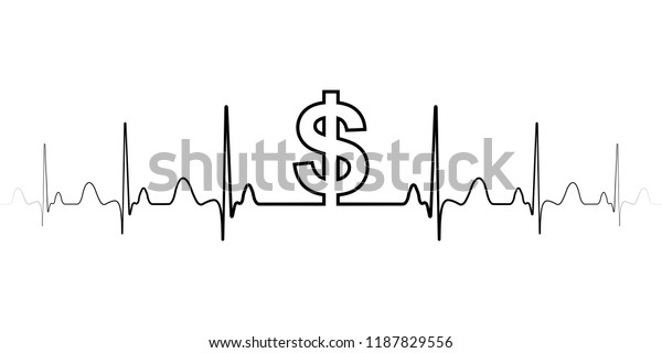 Sign Symbol Fluctuations Exchange Rate Dollar Stock Vector