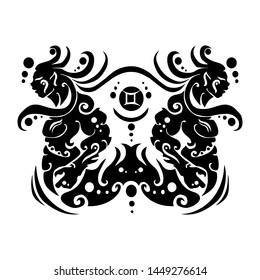sign symbol of gemini tribal zodiac