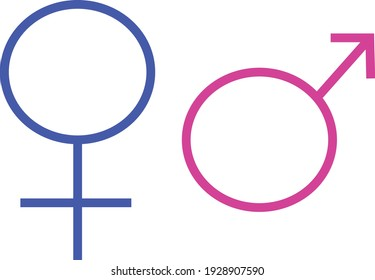 Sign and symbol. Sign man and woman on a white background.