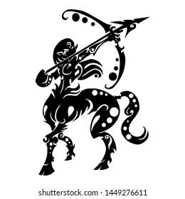 sign symbol of sagittarius tribal zodiac