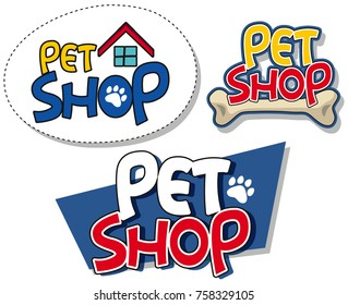 Sign template for pet shop illustration