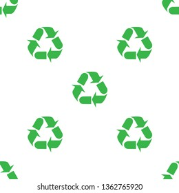 The sign of the three arrows, means recycling. Seamless Wallpaper pattern.