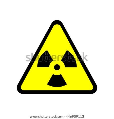 Sign Toxic Warning Radioactive Zone Triangle Stock Vector Royalty