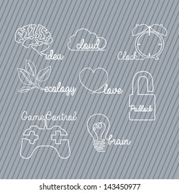 sign types over gray background vector illustration