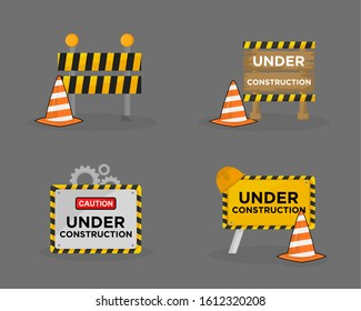 sign under the building construction of yellow and orange