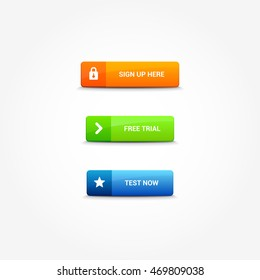 Sign Up, Free Trial & Test Now Buttons