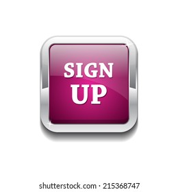 Sign Up Vector Button Icon