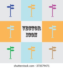 Sign vector icon