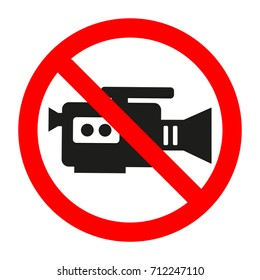sign video recording prohibited