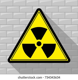 Sign warning about radiation.