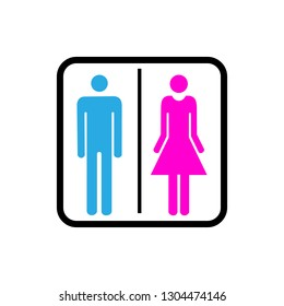 Sign WC icon. Vector concept illustration for design.