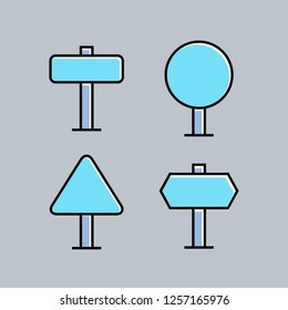 signage and signpost icons