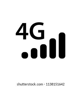 signal, 4g icon vector template