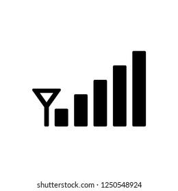 Signal bar icon vector