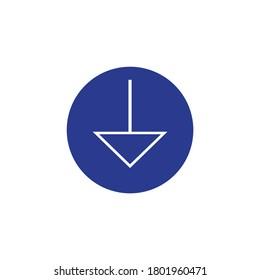 signal ground symbol, vector illustration