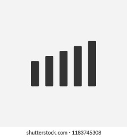 Signal icon illustration,vector energy sign symbol