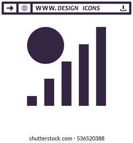 Signal Icon Vector flat design style