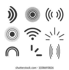 Signal icons vector set icon