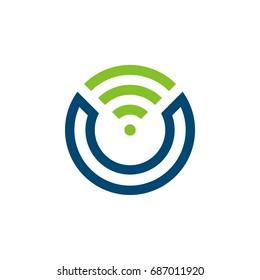 Signal letter O Icon Logo Template Illustration Design. Vector EPS 10.