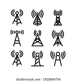 icône de tour de signal ou logo symbole de signe isolé illustration vectorielle - Collection d'icônes vectorielles de haute qualité de style noir
