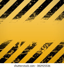 Signal warning stripes. Construction background. Stock vector illustration.
