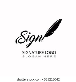 Signature abstract logo black and white