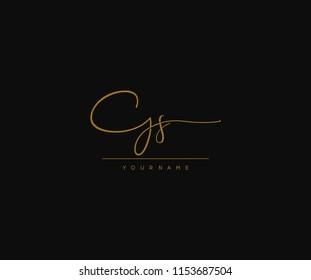 Signature Gs Letter Logo