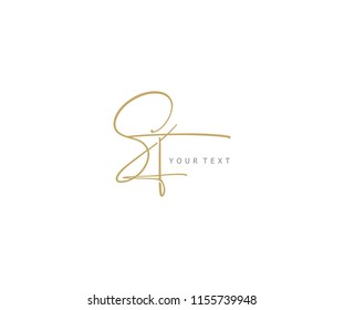 signature handwriting initial SF vector logo