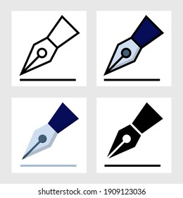 Signature icon vector design in filled, thin line, outline and flat style.