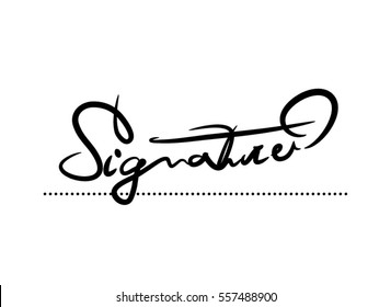 Signature Vector Calligraphy Template