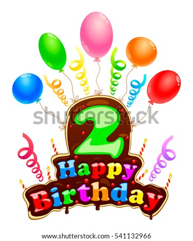 Signboard For The Birthday Of 2 Years Happy Sign In Form A