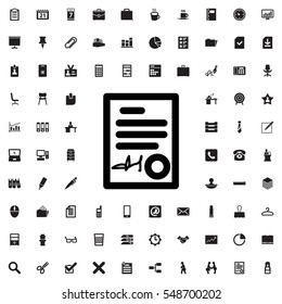 signed document icon illustration isolated vector sign symbol
