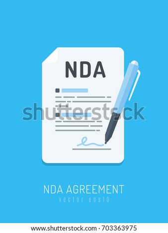 Signing Nda Pen Non Disclosure Agreement Stock Vector Royalty Free