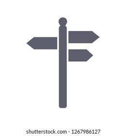 signpost icon, vector