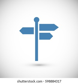 signpost icon, vector best flat icon, EPS