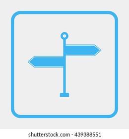 Signpost illustration.