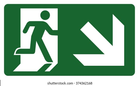 signpost, leave, enter or pass through the door down the right. Ideal for visual communication and institutional materials