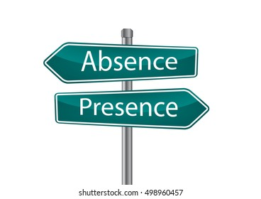 Signs with absence and presence pointing in opposite directions