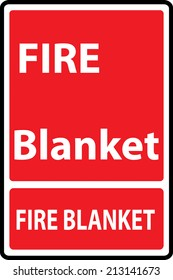 Signs of fire blanket  sign. Vector Illustration