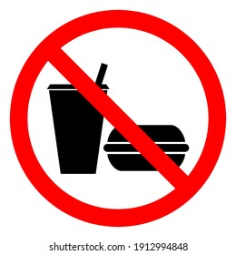 The signs are not allowed to eat or drink . Vector ESP10