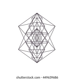 Signs Sacred geometry. Alchemy, religion, philosophy, spirituality, hipster symbols and elements