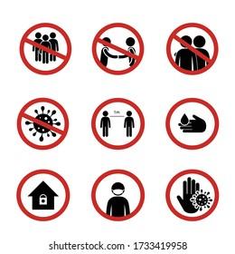 Anzeichen für einen sozialen Distanzierungsausbruch der Sicherheitsvorsorge Viruspandemie