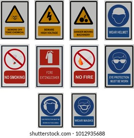 signs and symbol for safety worker