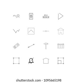 Signs And Symbols linear thin icons set. Outlined simple vector icons