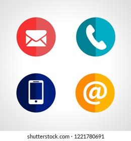 signs symbols mail telephone