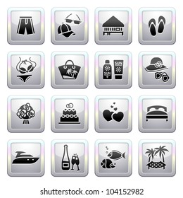 Signs. Travel, Vacation & Recreation. Fifth set icons