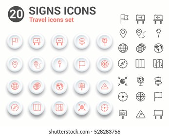 Signs vector icons , Travel and turism